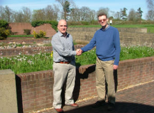 Dr Robin Probert (Kew Head of Technology & Training) and Mr Simon Phipps (HWLT Chairman) at Millennium Seed Bank,Wakehurst Place, following the MoC signing